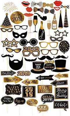 Photo Booth Props 2019 Set 60 Pack Years Party Supplies Selfie For End Of Year E