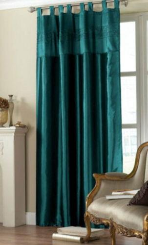 Teal Tab Top Curtains Ebay