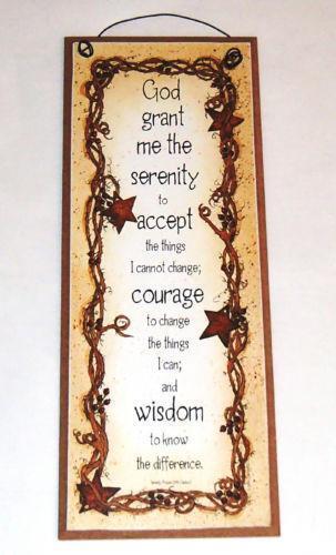Serenity Prayer Plaque Ebay