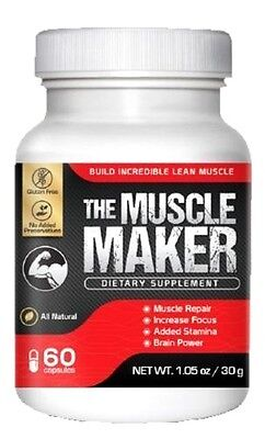 Muscle Maker Testo Boost L Arginine L Valine Glutamine Creatine Focus Grow Power