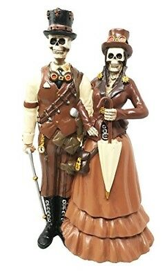 Day Of The Dead Steampunk Ballroom Wedding Function Skeleton Couple Figurine 8