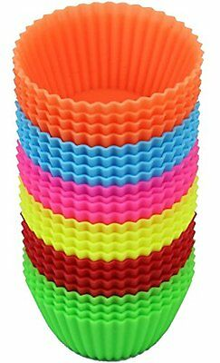 24Pcs Silicone Soft Cake Muffin Chocolate Cupcake Liner Baking Cup Mold DIY New
