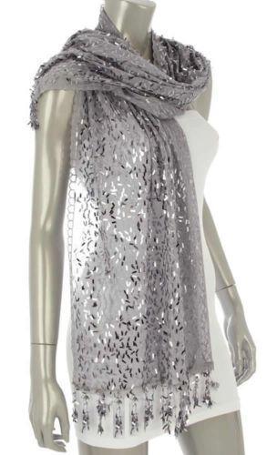 Silver Sequin Shawl Scarves Amp Wraps Ebay