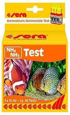 SERA AMMONIA NH4 - NH3  AQUARIUM TEST KIT 3 x 15 ml/0.5 fl oz.
