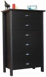 6 Drawer Black Dressers