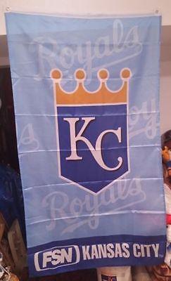 New Kansas City Royals Banner Flag Fsn Network 60X33 Kansas City Royals Rare Sga