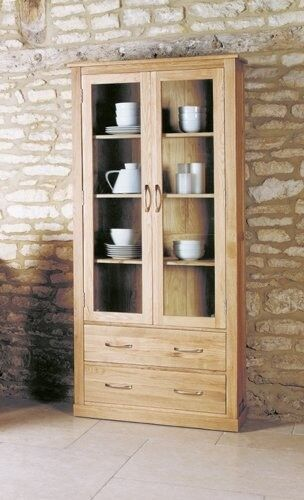 image baumhaus mobel baumhaus mobel oak large glazed display cabinet as new immaculate condition 25000