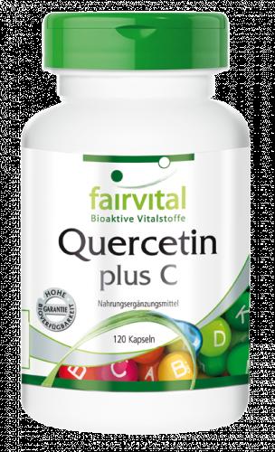 Quercetina con Vitamina C – 120 capsule, bioflavonoide naturale, veg.- fairvital