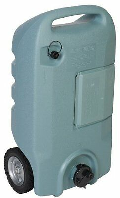 Wheel 15 Gallon RV Waste Gray Black Sewer Waste Water Tank Camper Tote Portable