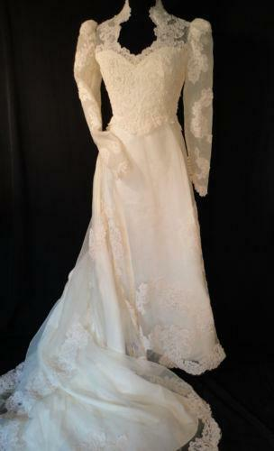 Vintage victorian wedding dress ebay for Ebay vintage wedding dress