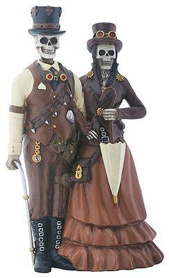 DOD Steampunk Couple Skeleton Figurine.statue. Halloween ...