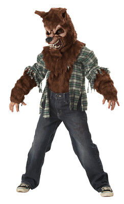 Boys Furry Werewolf Kids Horror Halloween Costume