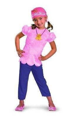 Kleinkind Mädchen Kinder Disney Jake Nimmerland Piraten Pink Izzy Kostüm - Land Mädchen Kleinkind Kostüm