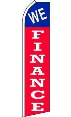We Finance Car Dealer Lot Swooper Banner Feather Flag- On Sale