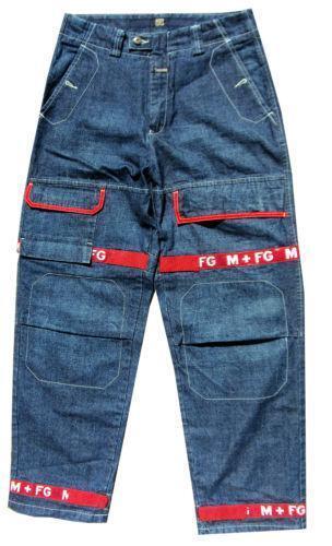 Mens Red Denim Jeans