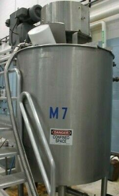 500 Gallon Lee Sanitary Jacketed Stainless Double Motion Mix Tankkettle Mixer