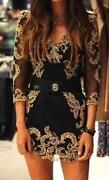 Karen Millen Black Gold Dress