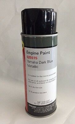 Moeller Marine Outboard Engine Paint Yamaha Dark Blue Metallic 12 oz - 025515