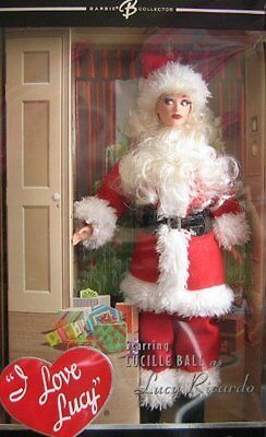 "I Love Lucy Santa ""The Christmas Show"" Hollywood Collection Barbie Doll MIMB"