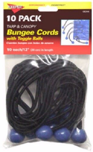 "Hampton Products-Keeper, 20 Pack, 12"" Bungee Ball Cord, Cord Is Premium Grade"