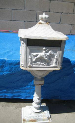 Antique Cast Iron Mailbox Ebay