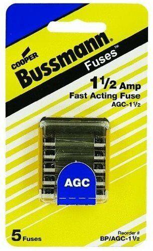 Fuse, 1-1/2A, AGC, 250VAC, PK5