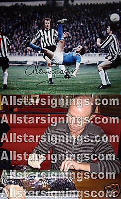 DENNIS TUEART SIGNED MANCHESTER CITY PHOTOGRAPH PROOF