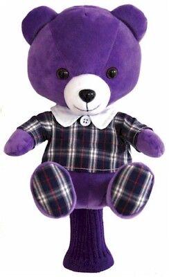 JP Lann Golf Purple Heady Bear Golf Club Head Cover for Drivers - Purple Bear