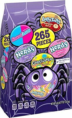 Nestle Halloween Candy (Nestle Assorted 265 Pieces Halloween Candy Bag, Nerds, LaffyTaffy,)