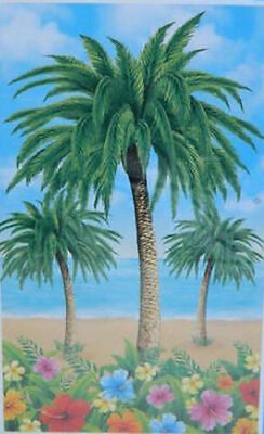 TROPICAL BEACH Scene Setter LUAU party wall or door poster decoration Palm Trees](Decorative Palm Trees)
