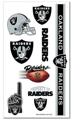 Oakland Raiders NFL Temporary Tattoos 7 Count - New in Package](Raiders Tattoos)