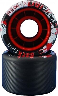 VNLA Backspin Remix Lite Black Skate Wheels - 62mm X 42mm 92A - Set of 8 - Lite Black Wheels