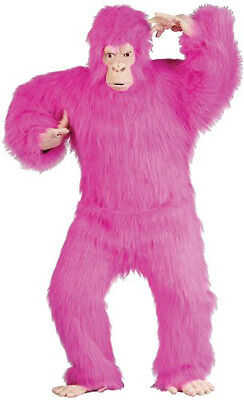 PINK PROFESSIONAL GORILLA COSTUME adult monkey suit LIGHT FACE APE dressup prop