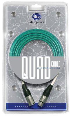 Blue Kiwi Microphone Cable (Blue Quad 20 Foot Microphone Cable for microphones Kiwi Cactus Bottle mics)