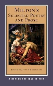 Milton's Selected Poetry and Prose Book
