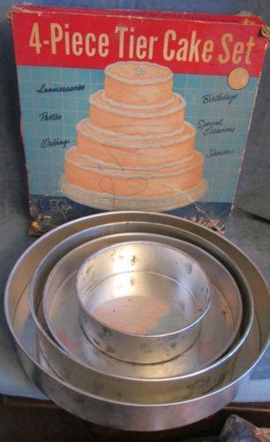Tier Square Wedding Cake Pan Set