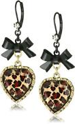 Betsey Johnson Leopard Earrings