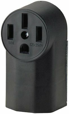 Eaton Wd1212 50-amp 3-pole 4-wire 125-volt Surface Mount Range Power Receptacle
