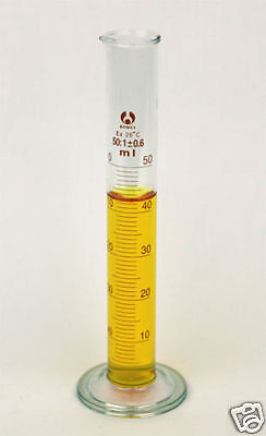 Brand New Glass Cylinder 50 Ml Graduated - Ships From Usa