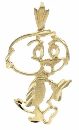 Rare Vintage Yakky Doodle Charm in 14 kt Yellow Gold.