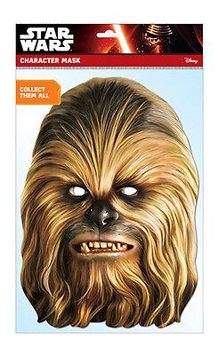 Chewbacca Offizieller Star Wars 2d Karten Party Gesichtsmaske Kostüm (Wookie Star Wars Kostüm)