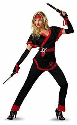 Disguise Women's Ninja Dragon Costume, Black/Red,, Black/Red, Size X-Large aOun