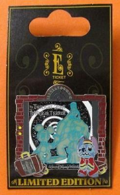 Disney Pin WDW - E-Ticket Attractions - Stitch Bellhop - Tower of Terror   3D LE
