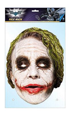 Der Joker Offiziell Batman 2D Karten Party Gesichtsmaske Kostüm Heath - Der Offizielle Batman Kostüm