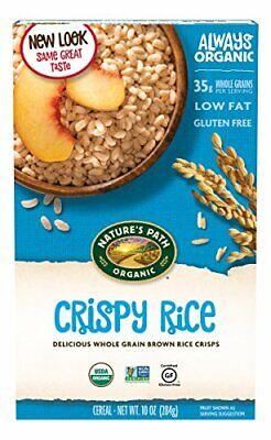 Nature's Path Organic Gluten-Free Cereal, Crispy Rice, Whole Grain Brown Rice, 1