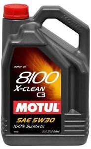 Motul 8100 X-clean 5W-30 Synthetic Motor Oil - 5 Liters