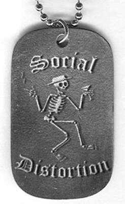 Social Distortion - Dogtag Necklace - Skelli Logo - Licensed New