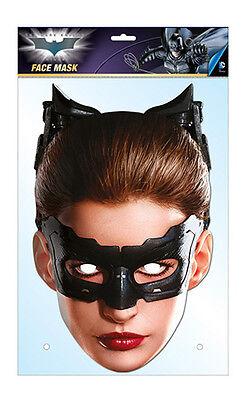 Catwoman Offiziell Batman 2D Karten Party Gesichtsmaske Kostüm Anne Hathaway