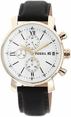 Fossil Watch With 42mm Chronograph Face & Chocolate Brown Leather Band BQ1009