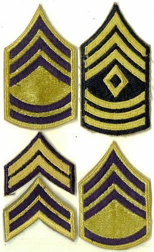 "5x DIFFERENT ARMY KOREAN WAR SMALL 2"" CHEVRONS - ltd supply"